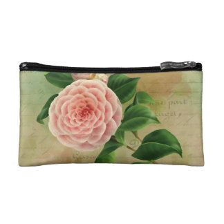 Vintage Camellia French Botanical Cosmetic Bag