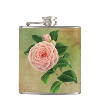 Vintage Camellia French Botanical Flask