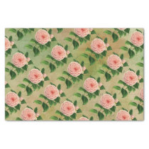 Vintage Camellia French Botanical Tissue Paper