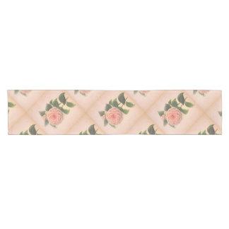 Vintage camellia pink floral table runner