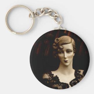 Vintage Cameo Keychain