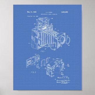 Vintage Camera 1966 Patent Art  - Blueprint Poster