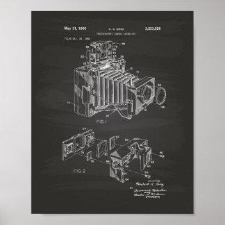 Vintage Camera 1966 Patent Art  - Chalkboard Poster