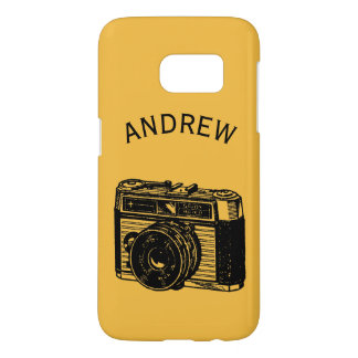 Vintage Camera 2 personalized Samsung Case