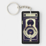 Vintage camera acrylic keychain