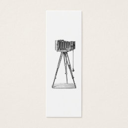 Vintage Camera - Antique Cameras Photography Black Mini Business Card