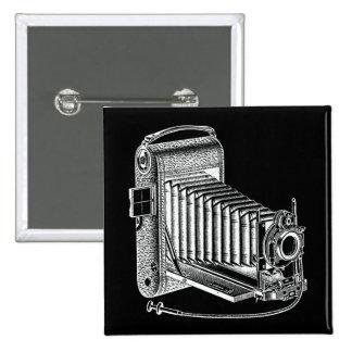 Vintage Camera - Antique Cameras Photography Retro 2 Inch Square Button
