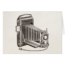 Vintage Camera - Antique Cameras Photography Retro Card