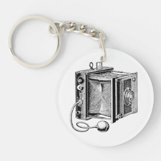 Vintage Camera - Antique Cameras Photography Single-Sided Round Acrylic Keychain
