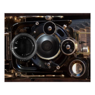 Vintage Camera Antique Photography Poster