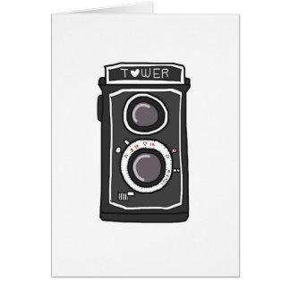 Vintage camera black and gray card
