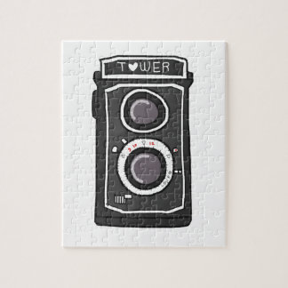 Vintage camera black and gray jigsaw puzzle