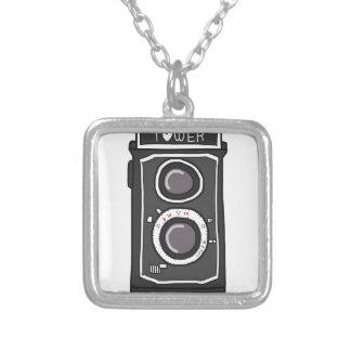 Vintage camera black and gray pendant