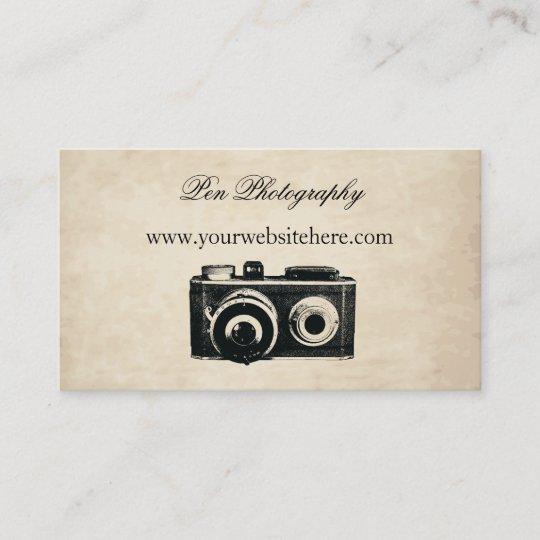 Vintage camera business card zazzle vintage camera business card colourmoves