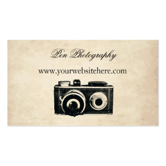 Vintage Camera Double-Sided Standard Business Cards (Pack Of 100)