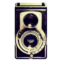 vintage camera, retro, funny, cool, photography, vintage, camera, analog, design, twin lens reflex, film, square format, classic, lens, old, antique, business, card, Business Card with custom graphic design