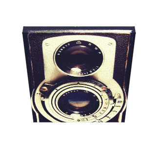 Vintage Camera Stretched Canvas Print