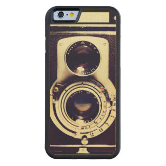 Vintage Camera Carved® Maple iPhone 6 Bumper Case