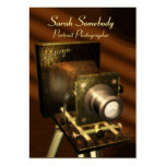 Vintage Camera Chubby Profile Card Business Card Template