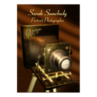 Vintage Camera Chubby Profile Card Large Business Cards (Pack Of 100)