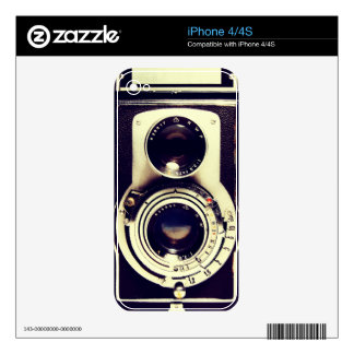 Vintage camera decal for the iPhone 4S