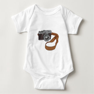 Vintage Camera Drawing Isolated Baby Bodysuit