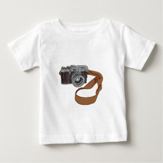 Vintage Camera Drawing Isolated Baby T-Shirt