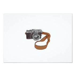 Vintage Camera Drawing Isolated Card