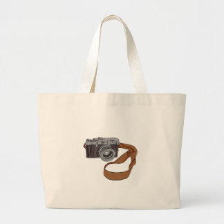 Vintage Camera Drawing Isolated Large Tote Bag