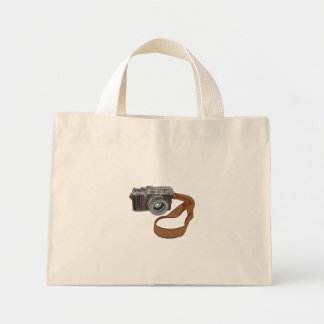 Vintage Camera Drawing Isolated Mini Tote Bag