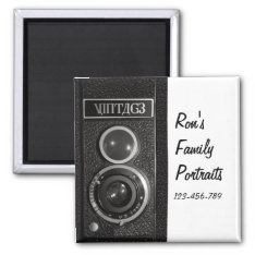 Vintage Camera Effect Magnet at Zazzle