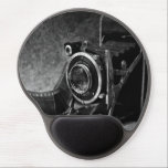 "Vintage Camera Gel Mouse Pad<br><div class=""desc"">A black and white photograph of a vintage style camera with film.</div>"