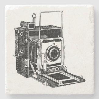 Vintage Camera Stone Beverage Coaster