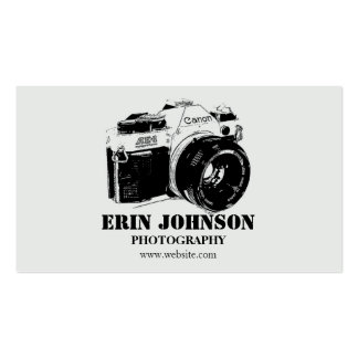 Vintage Camera, Grey Design Double-Sided Standard Business Cards (Pack Of 100)