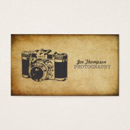 Vintage Camera Grunge Photography Business Cards