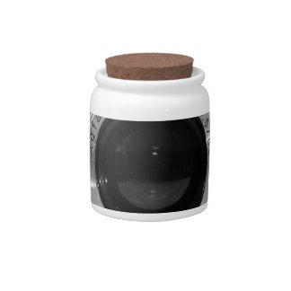 Vintage camera lens candy jars