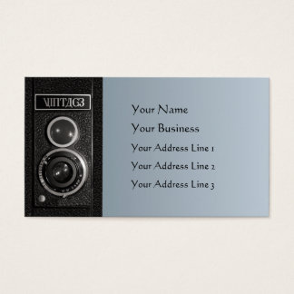Vintage Camera Lens Chubby Business Card