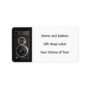 Vintage Camera Lens Name and Address Labels at Zazzle