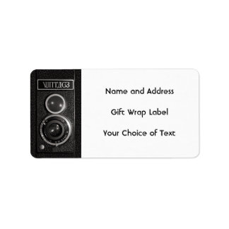Vintage Camera Lens Name and Address Labels