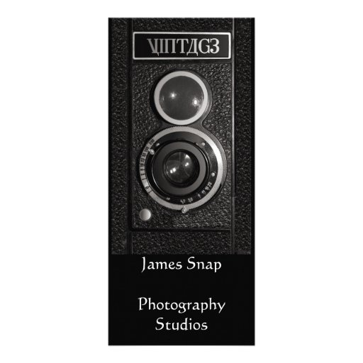 Vintage Camera Lens Photographers Promotional Card Full Color Rack Card