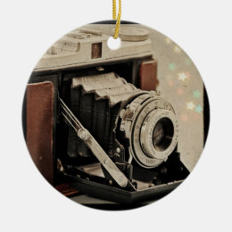 Vintage Camera Magic Ceramic Ornament