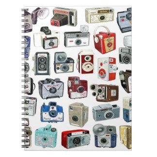 Vintage Camera Montage Notebook