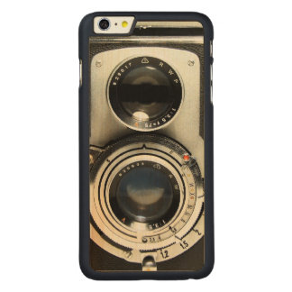 Vintage Camera - Old Fashion Antique Look Carved Maple iPhone 6 Plus Case