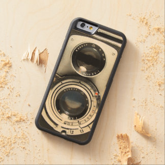 Vintage Camera - Old Fashion Antique Look Carved® Maple iPhone 6 Bumper Case