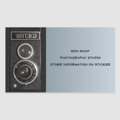 Vintage Camera On Name And Address Stickers at Zazzle