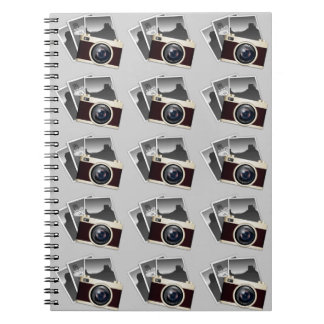 VINTAGE CAMERA PATTERN ILLUSTRATION NOTEBOOK