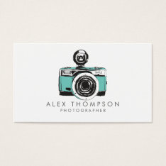 Vintage Camera Photographer Business Cards at Zazzle