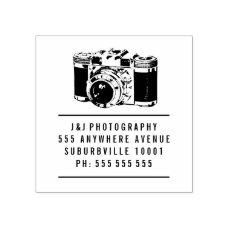 Vintage Camera Photographer Rubber Stamp