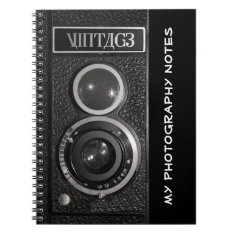 Vintage Camera Photographers Notebook at Zazzle