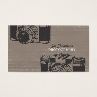 Vintage Camera Photography Business Cards